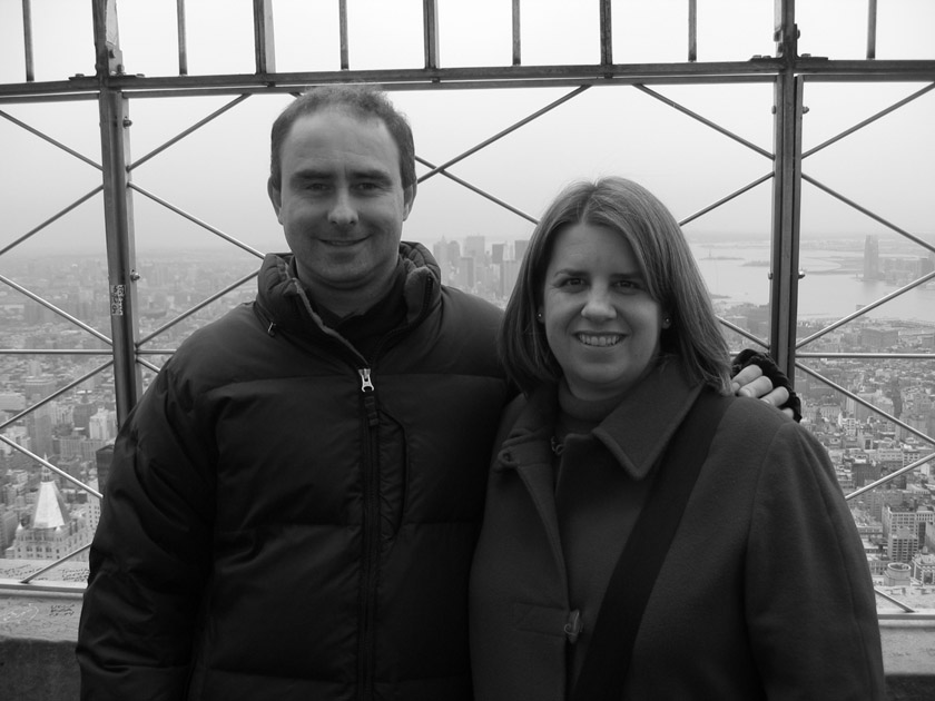 Up the Empire State building